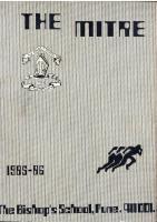 Mitre 1985-1986